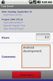 Android project detail screenshot