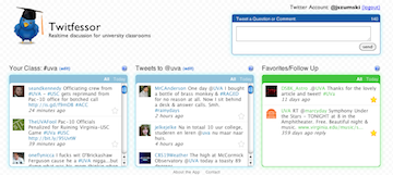 Twitfessor screenshot